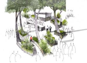 Konzeptentwurf - Garteninseln
